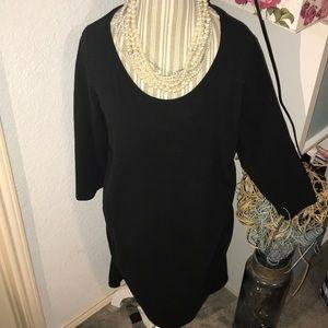 Liz Lange long sleeve maternity dress